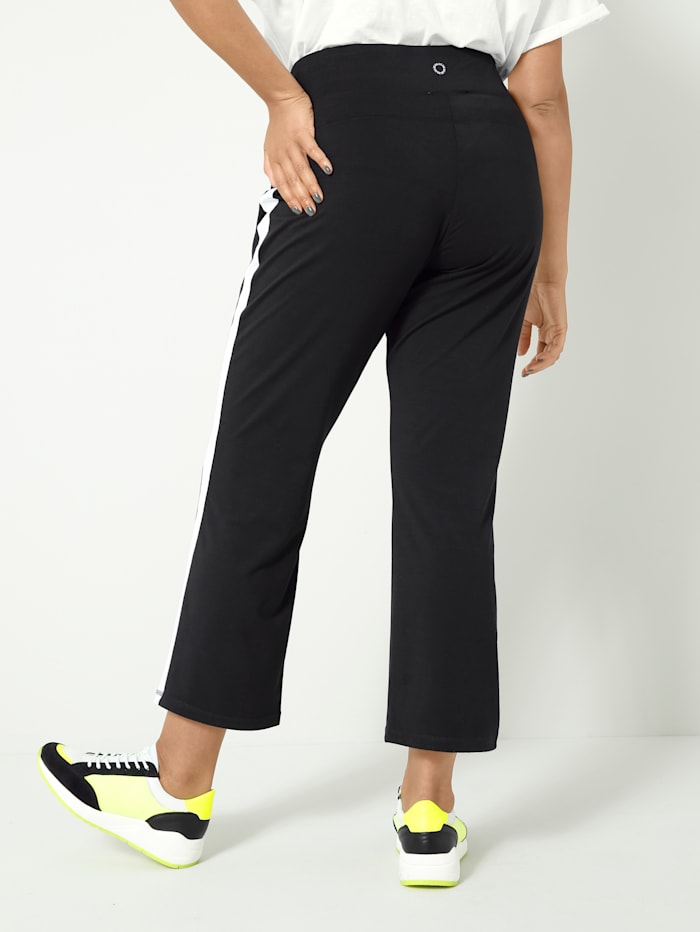 Pantalon de sport avec rayures contrastantes