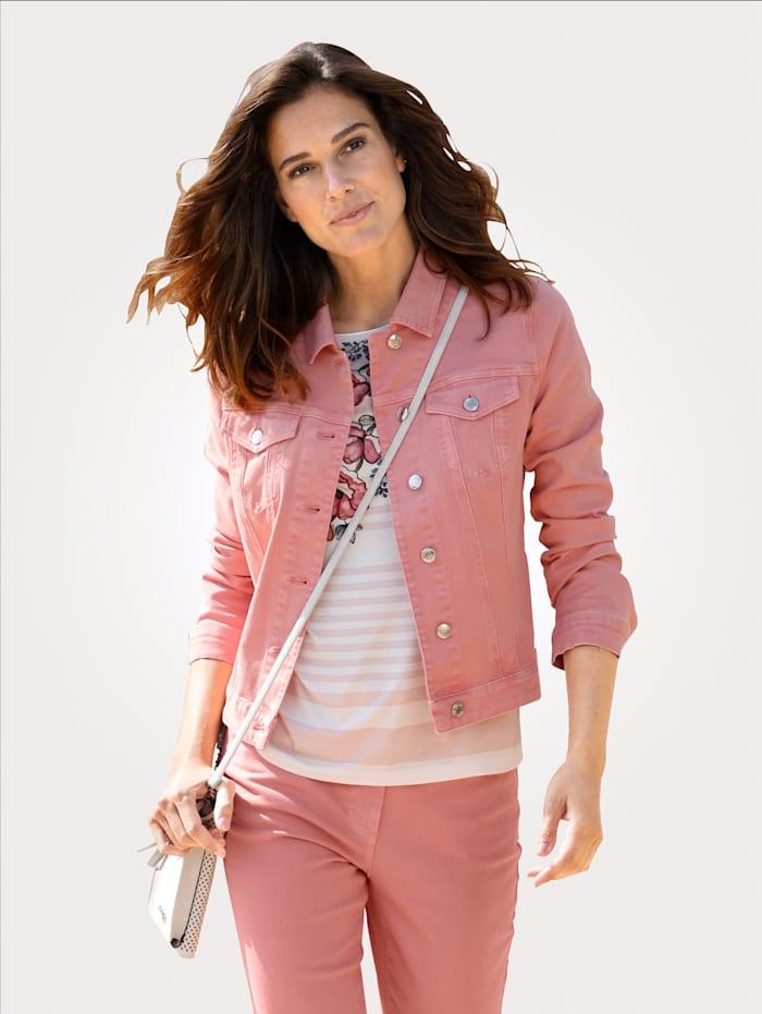 MONA Jeansjacke in modischer Farbgebung, Rosenholz