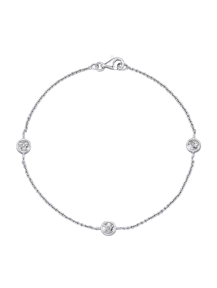 Armband mit Diamanten, Silberfarben
