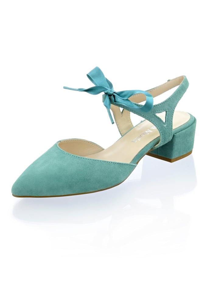 Alba Moda Slingpumps in modischer Farbgebung, Mintgrün