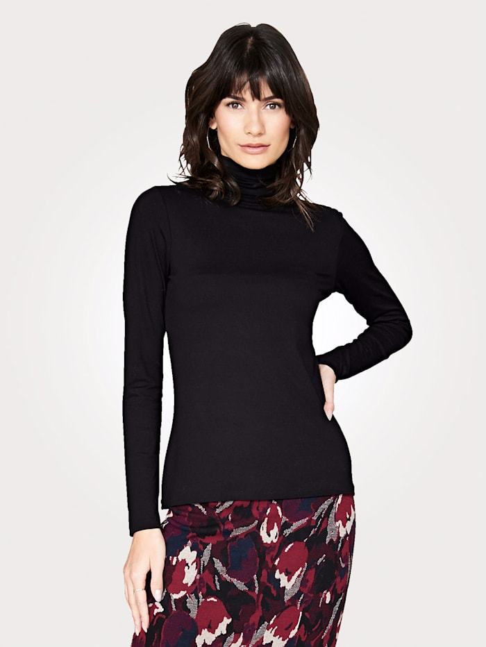 Jersey roll neck with long sleeves