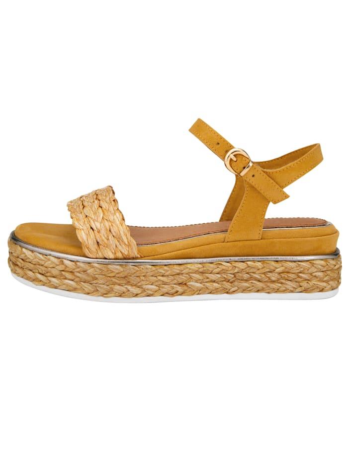 Sandales à plateau d'aspect raphia tressé