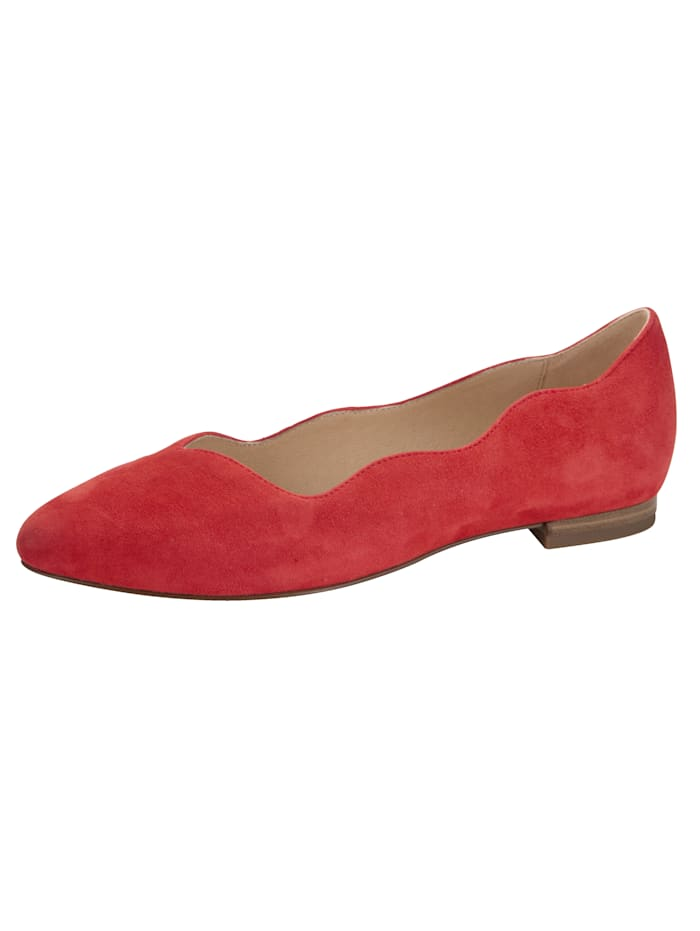 Caprice Ballet Court shoes constructed in a Sacchetto style, Coral