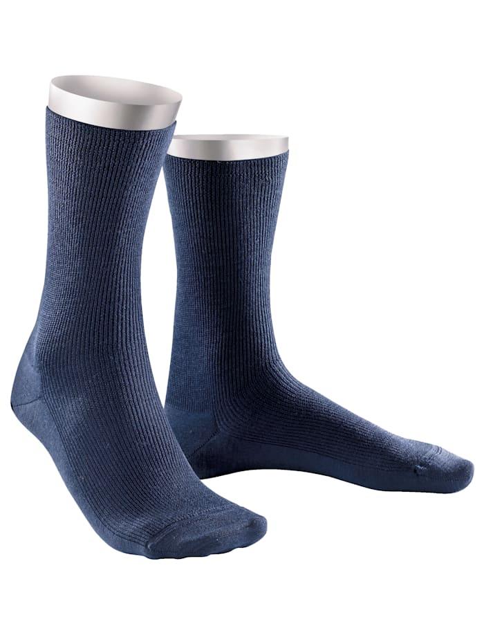 Weissbach Socken »Elite« aus reiner Schurwolle, Marineblau