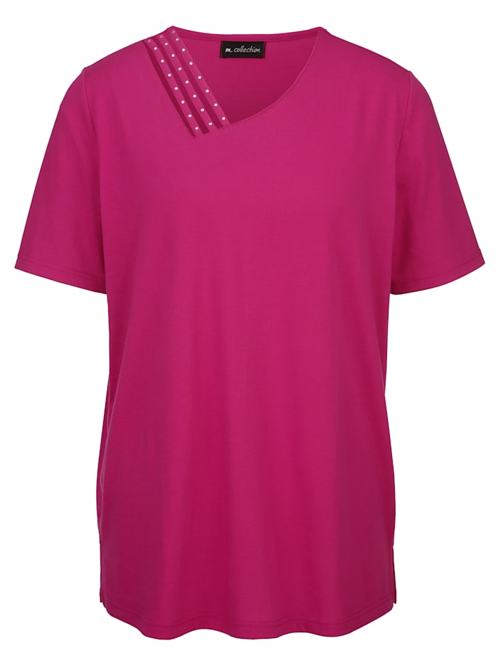 Shirt mit asymetrischem V-Ausschnitt