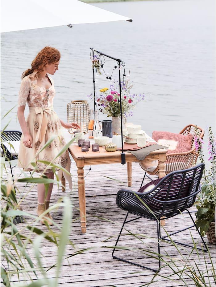 IMPRESSIONEN living Outdoor-Stuhl-Set, 2-tlg., schwarz/weiß