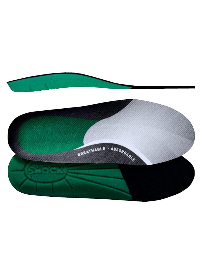 FußGut Aktívne vložky do obuvi super pohodlné, Tmavozelená