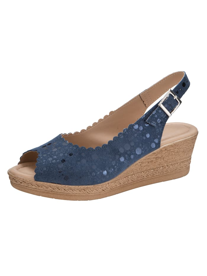 Sandaaltje in glanslook, Donkerblauw