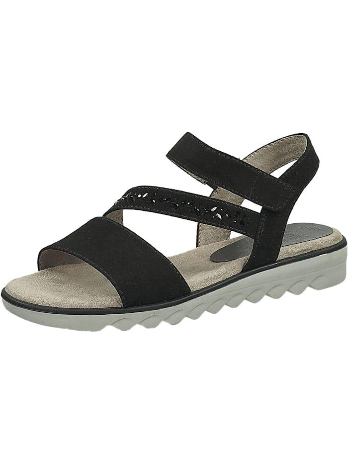 Jana Klassische Sandalen, schwarz