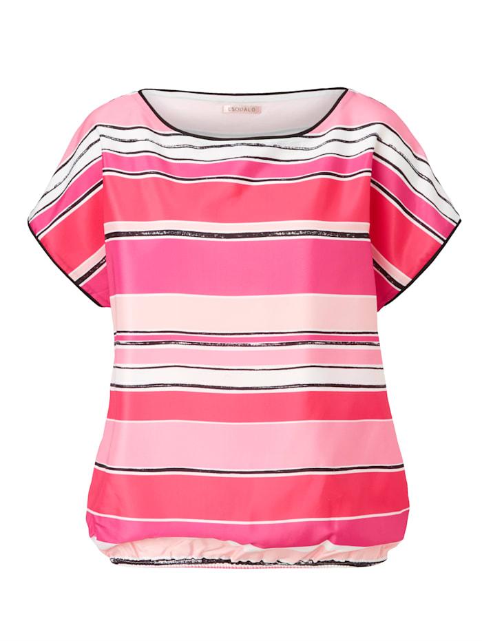 Esqualo Blusenshirt Mit Glanz Effekt, Pink