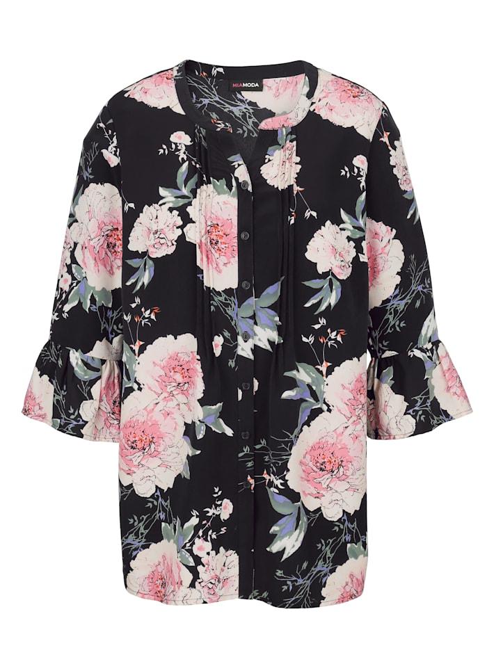 Bluse mit großem Floraldruck