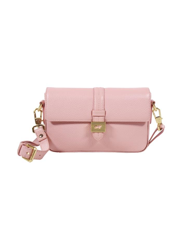 Braun Büffel Handtasche ASTI aus weichem Rindleder, ballet pink