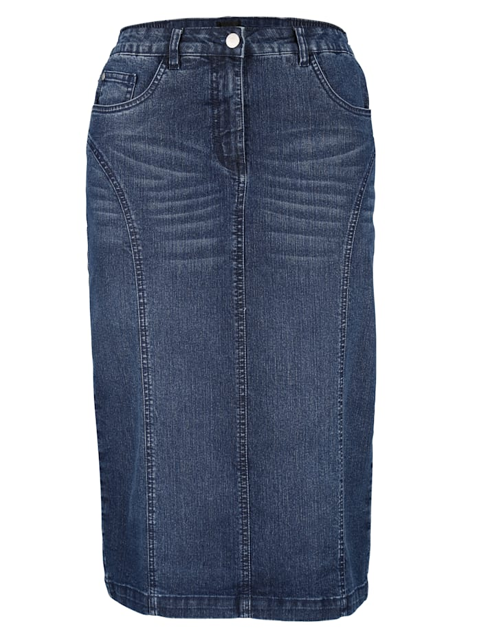 Jeansrock mit Gehschlitz hinten