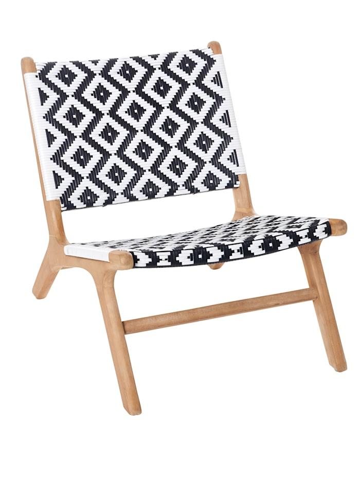 IMPRESSIONEN living Outdoor-Stuhl, Natur/Weiß, natur/weiß