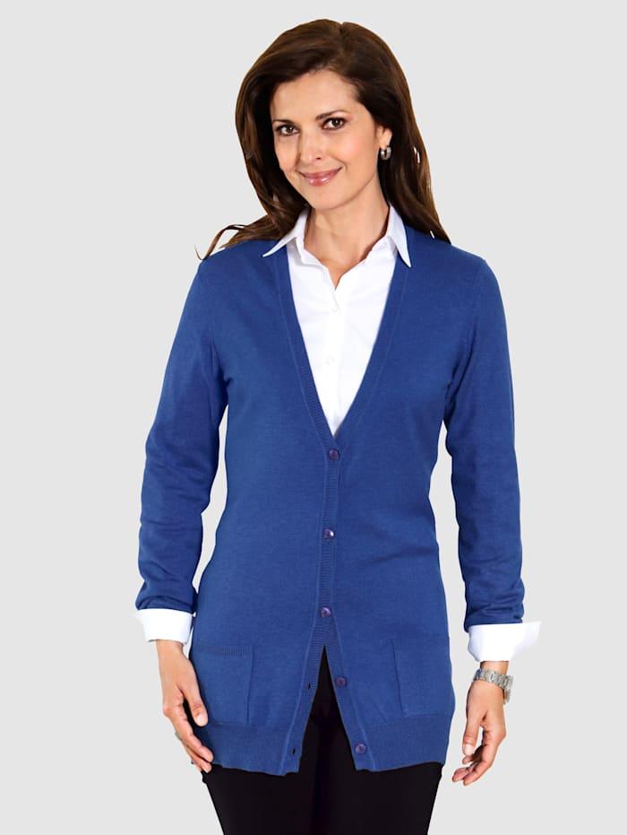 MONA Strickjacke in Traumhaft-Qualität, Blau