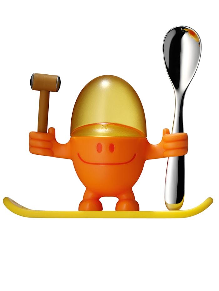 WMF Eggeglass med skje, Oransje/Gul