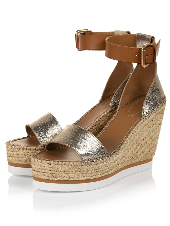 SEE BY CHLOÉ Wedges, Goldfarben