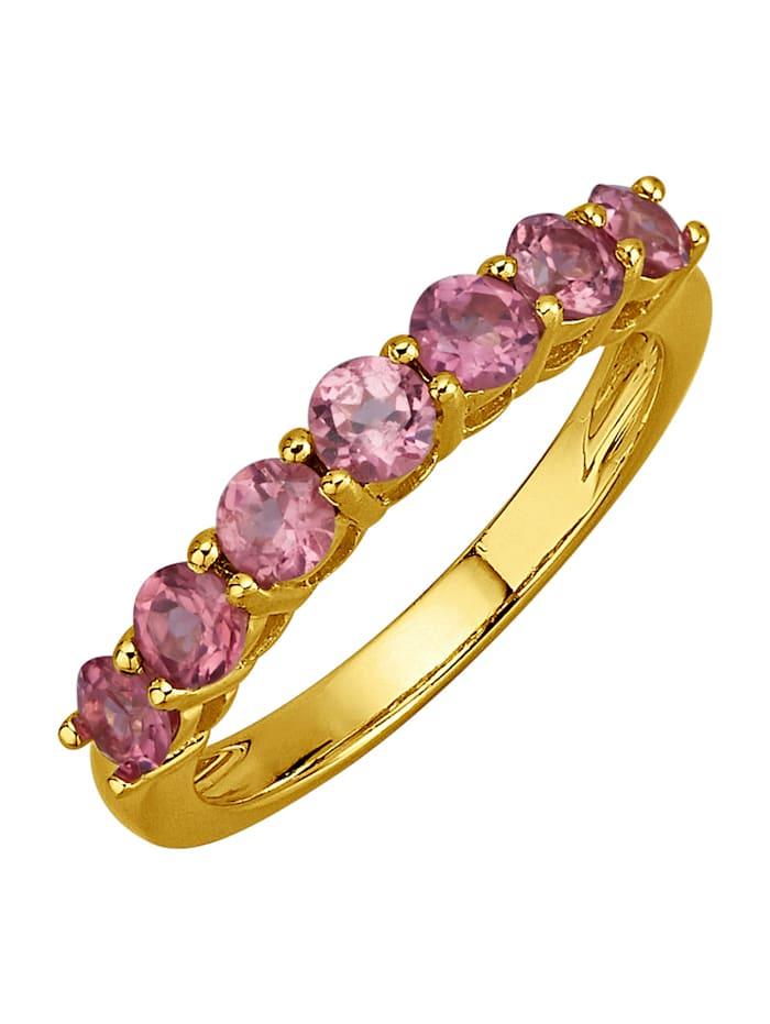 Damesring van echt zilver, Roze