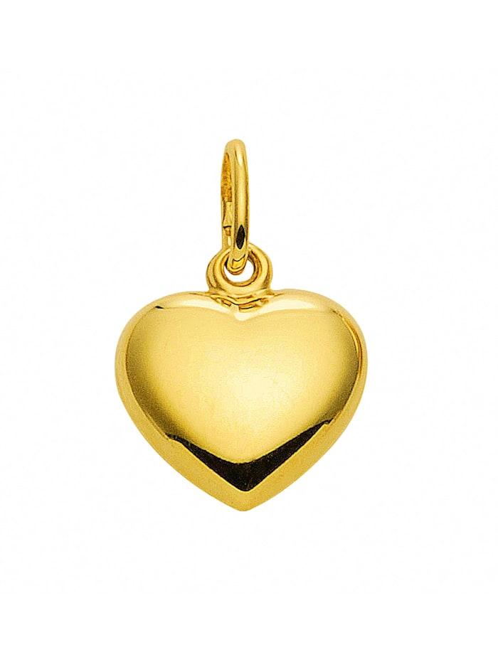1001 Diamonds Damen Goldschmuck 333 Gold Anhänger Herz, gold