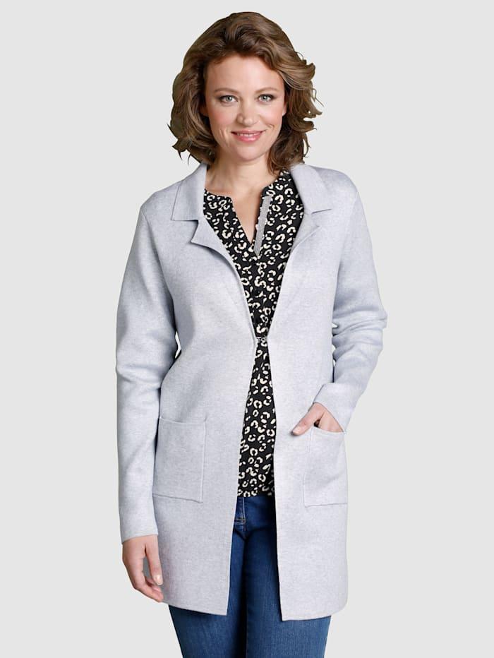 Dress In Strickjacke in modischer offener Form, Grau