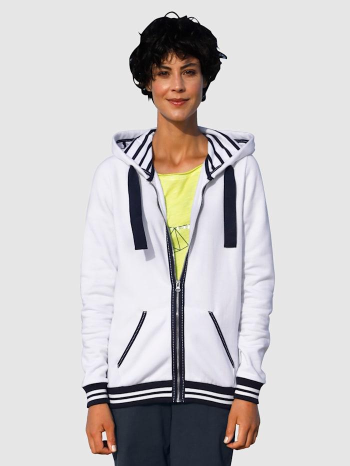 Dress In Sweatjacke mit verschiedenen Bändern, Weiß