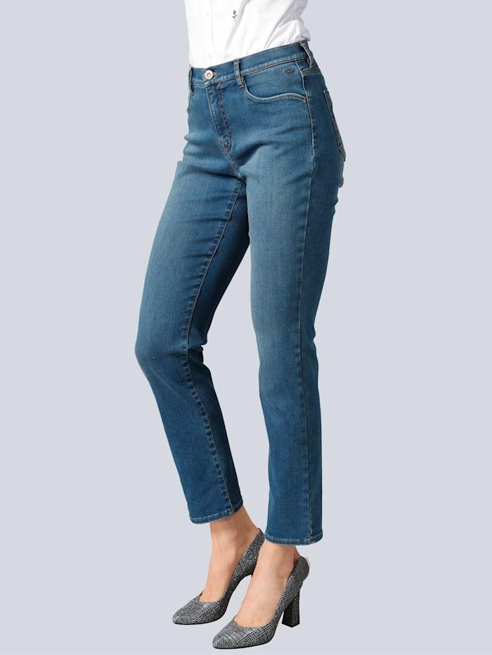 BRAX Jeans 'Carola' mit Swarowski-Ziersteinchen, Blau