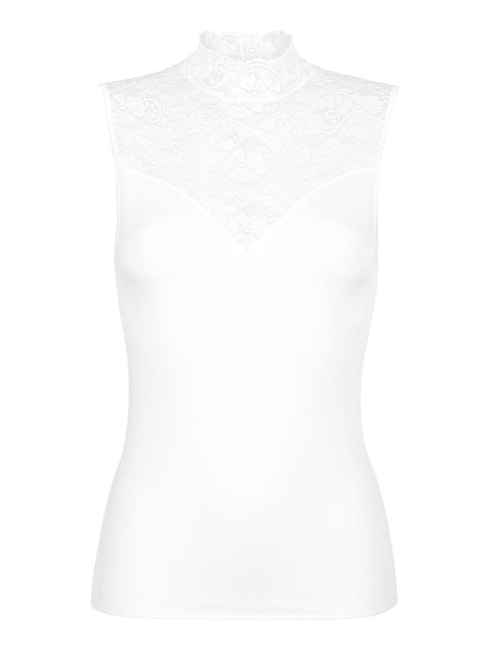 Nina von C. Turtleneck-Shirt in feiner Viskose/Modalqualität, Champagner