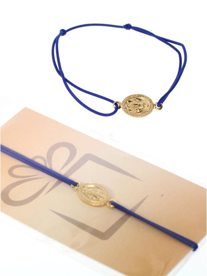 1001 Diamonds Armband 925 Silber vergoldet, dunkelblau