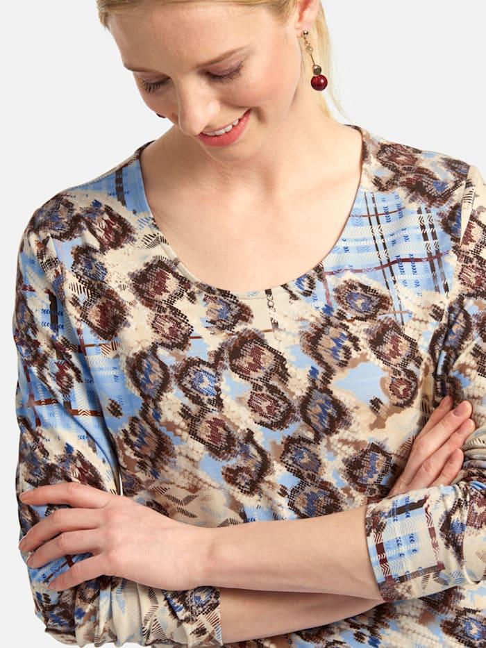 Shirt mit Rundhalsausschnitt und Allover-Print