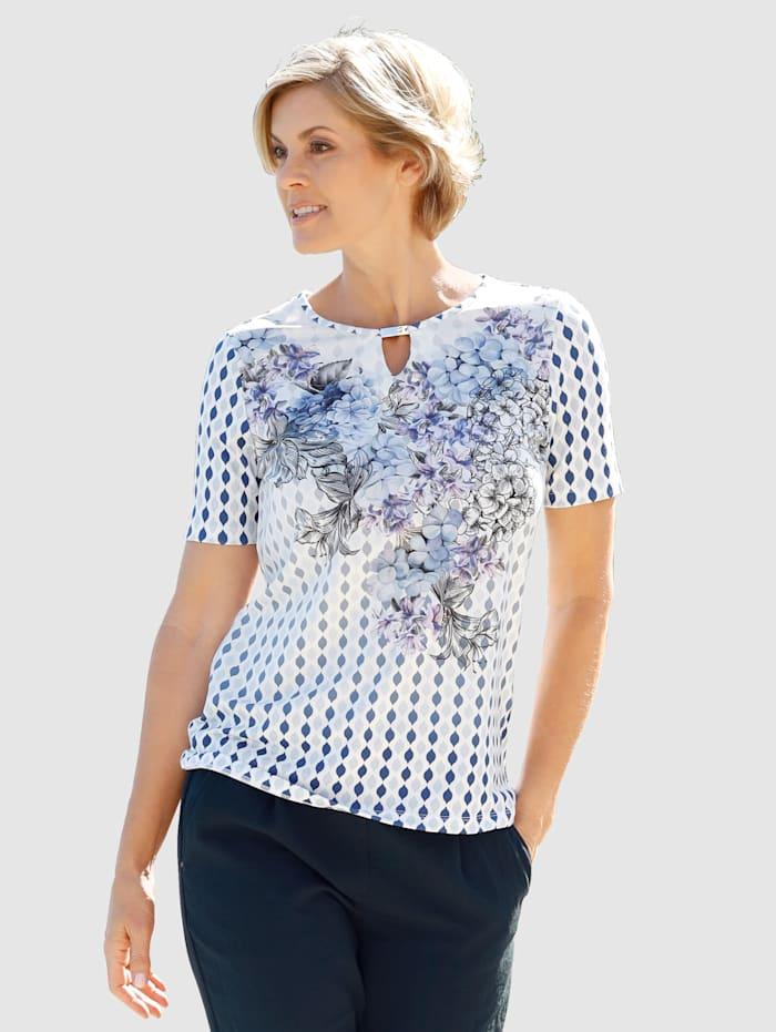 Shirt mit silbernem Dekosteg