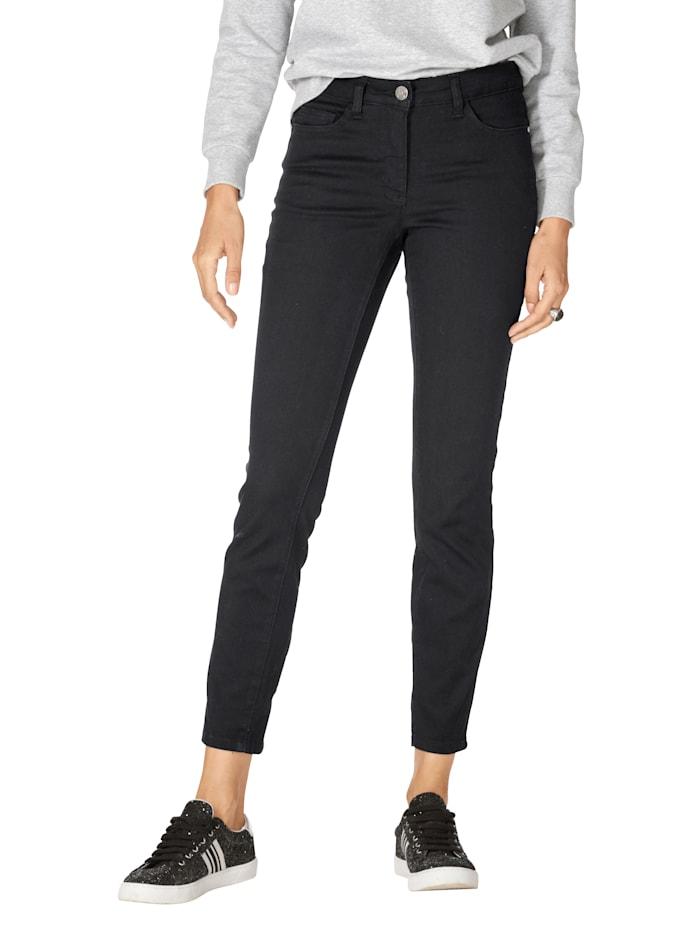 AMY VERMONT Jeans met rits en strikje aan de pijpzoom achter, Black