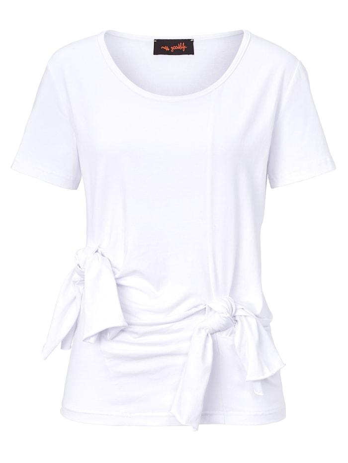miss goodlife Knotenshirt, Weiß