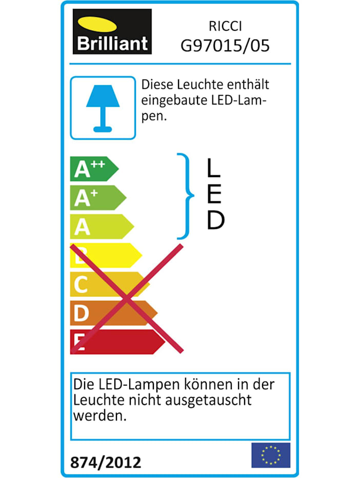 Ricci LED Deckenleuchte 39cm alu/weiß