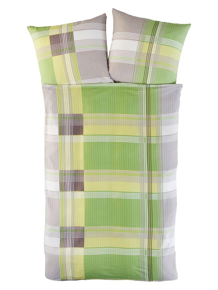 Kinzler Ložní prádlo z mikrovlákna-krepu Frederike, Zelená