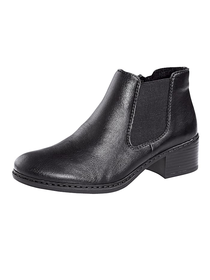 Rieker Chelsea obuv, Čierna