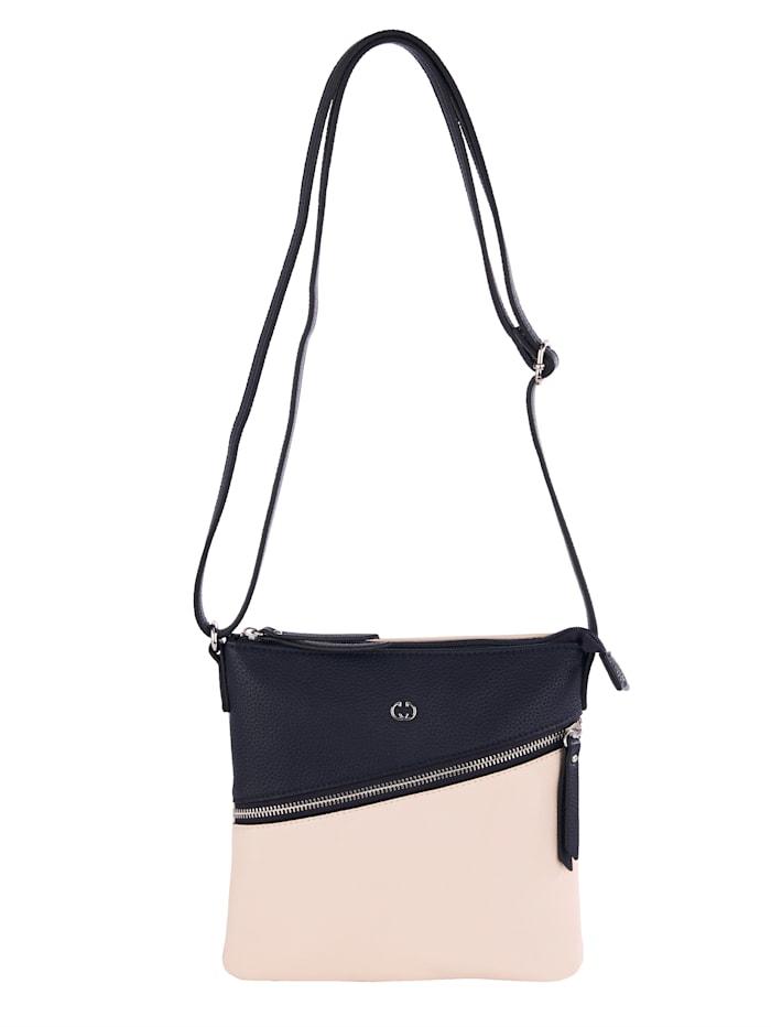 Gerry Weber Shoulder bag made from a soft, premium fabric, Navy/Beige