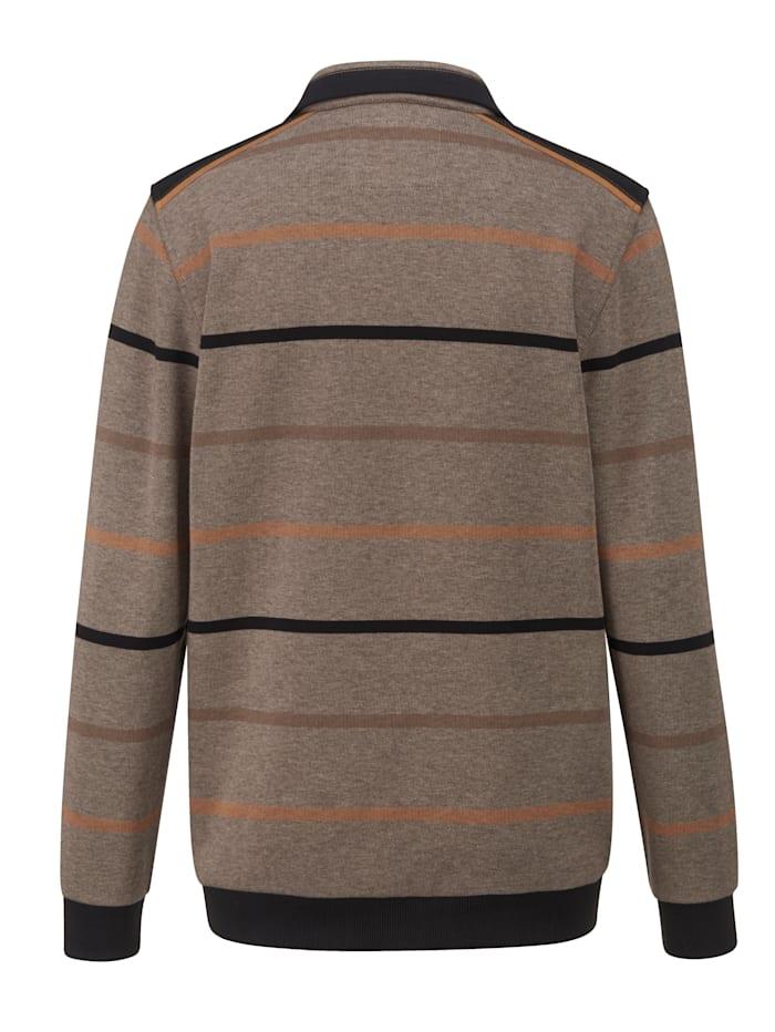 Sweat-shirt d'aspect bicolore