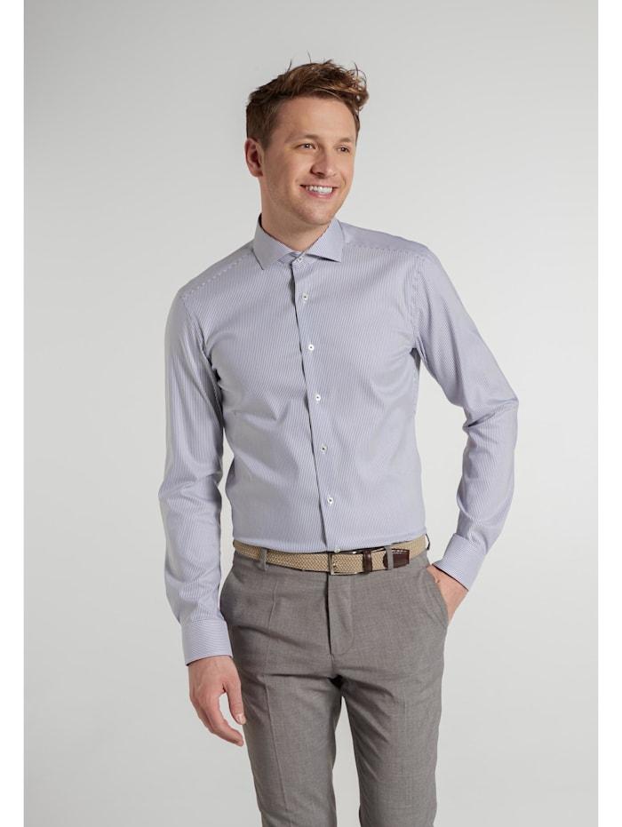 Eterna Eterna Langarm Hemd SLIM FIT, blau/weiss