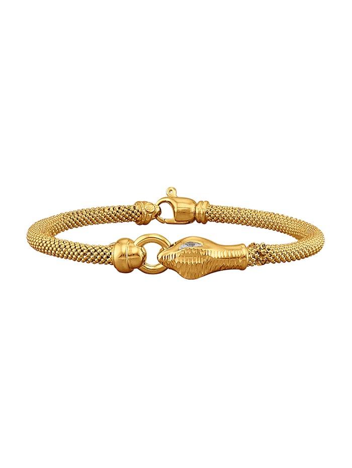 Diemer Trend Armband Slang van verguld zilver, Geelgoudkleur