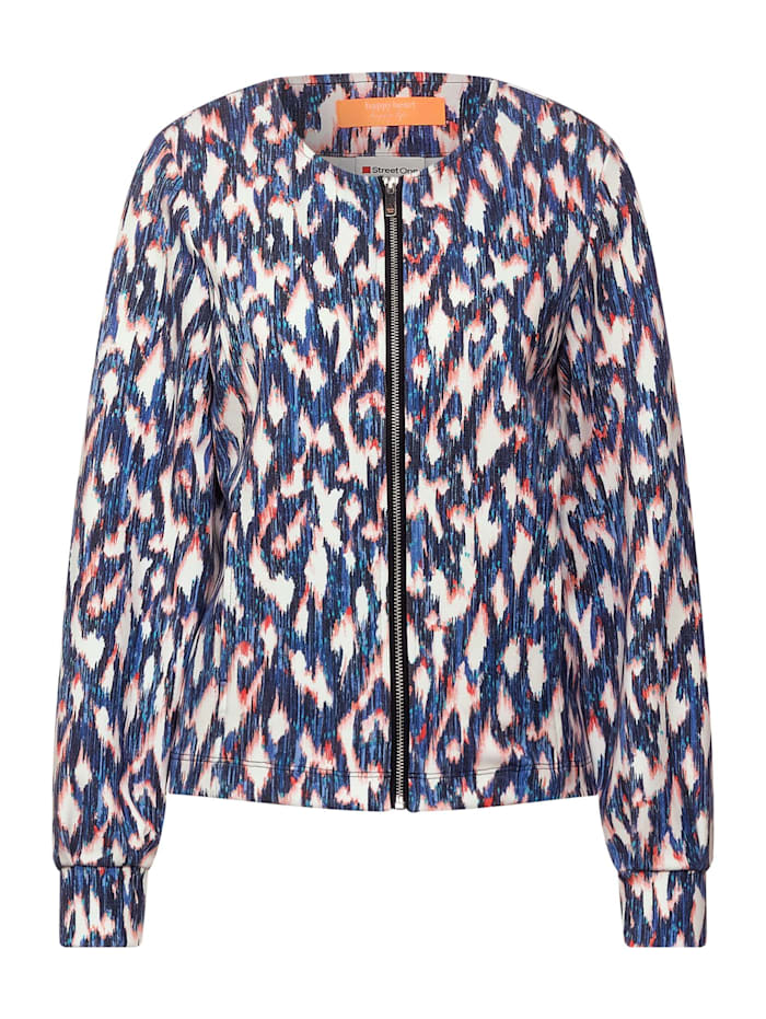 Street One Indoor Jacke mit Ikat Print, dark blue