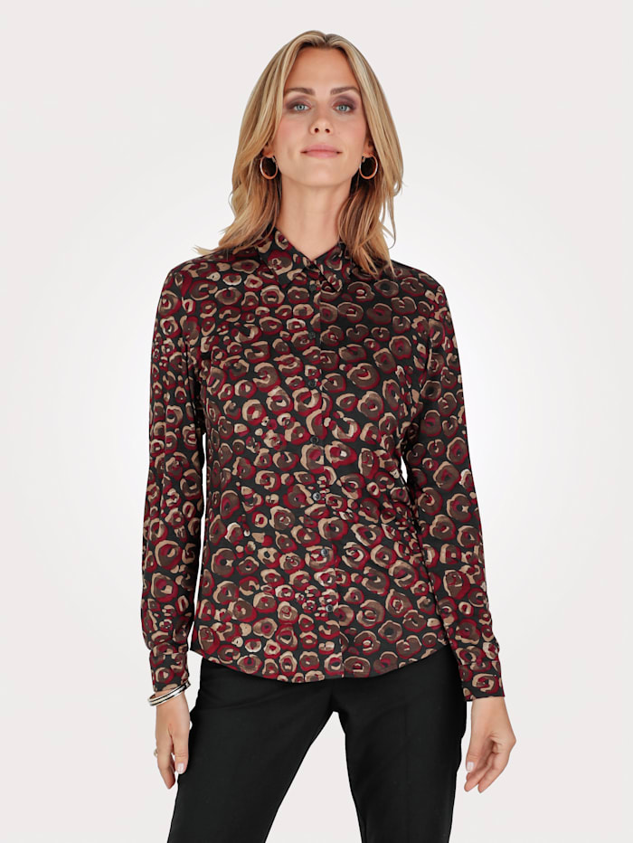 Blouse made from jersey