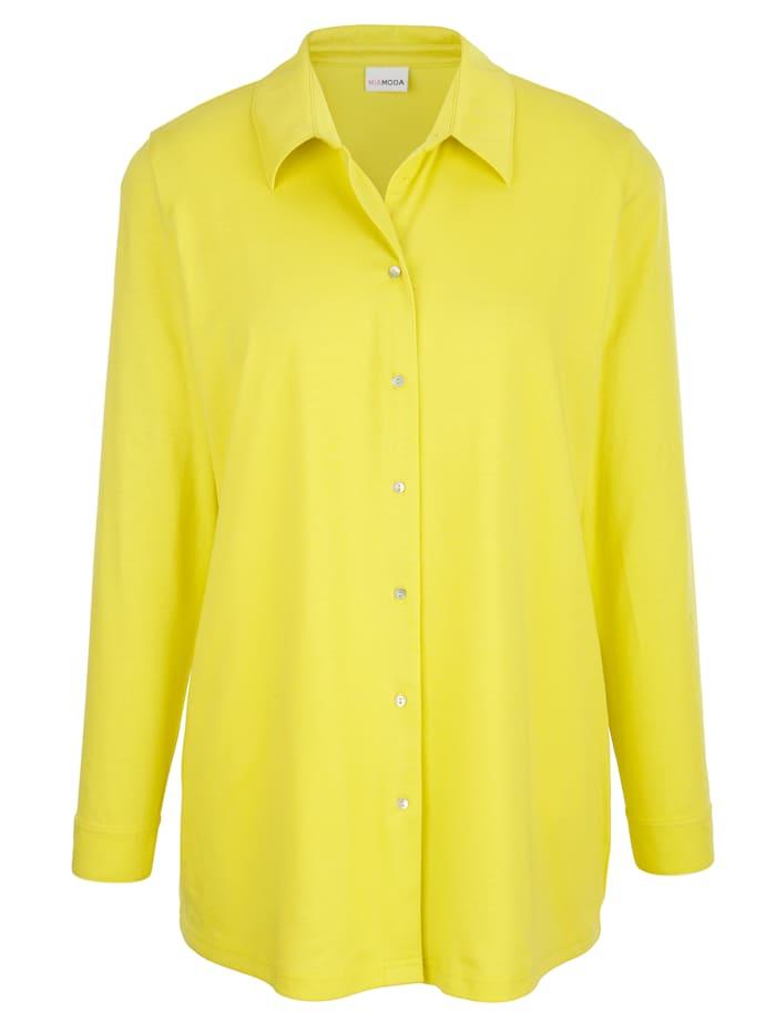 MIAMODA Halenka s knoflíkovou légou, Neonová žlutá