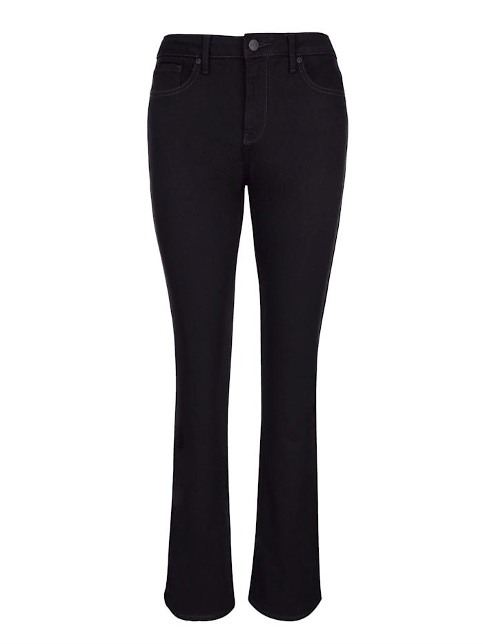 NYDJ Jeans Bootcut model met uitlopende pijpen, Zwart