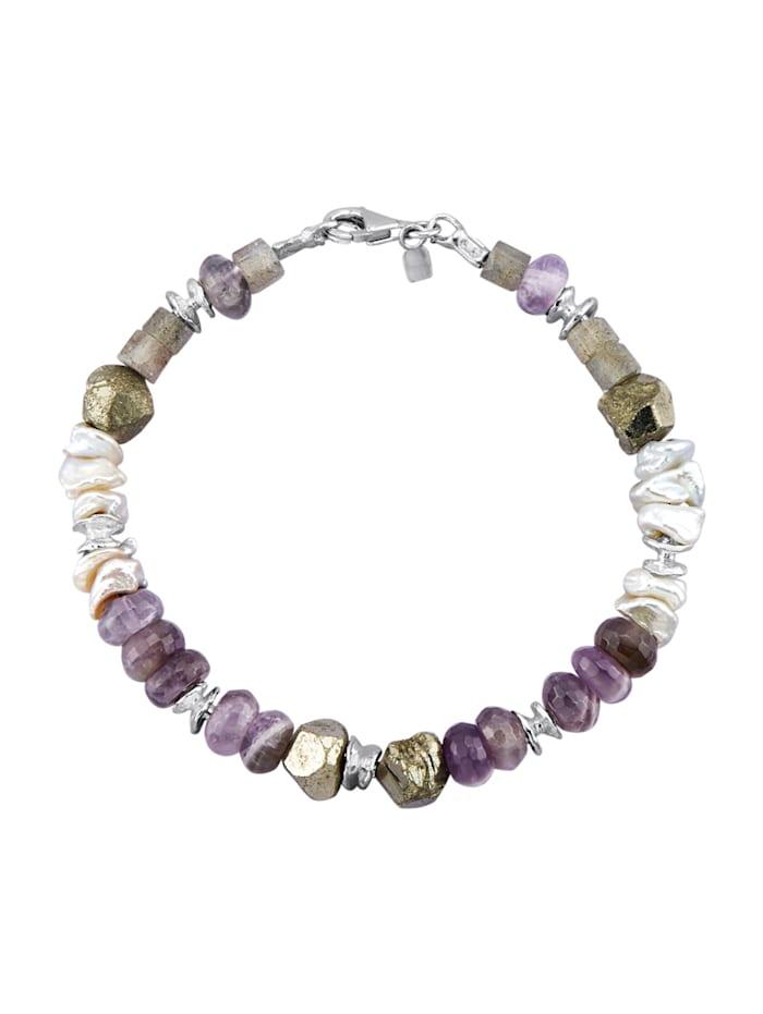 Armband van echt zilver, Multicolor