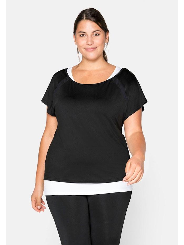 Sheego Sheego Shirt und Top und Funktionstop im Set, schwarz+weiß