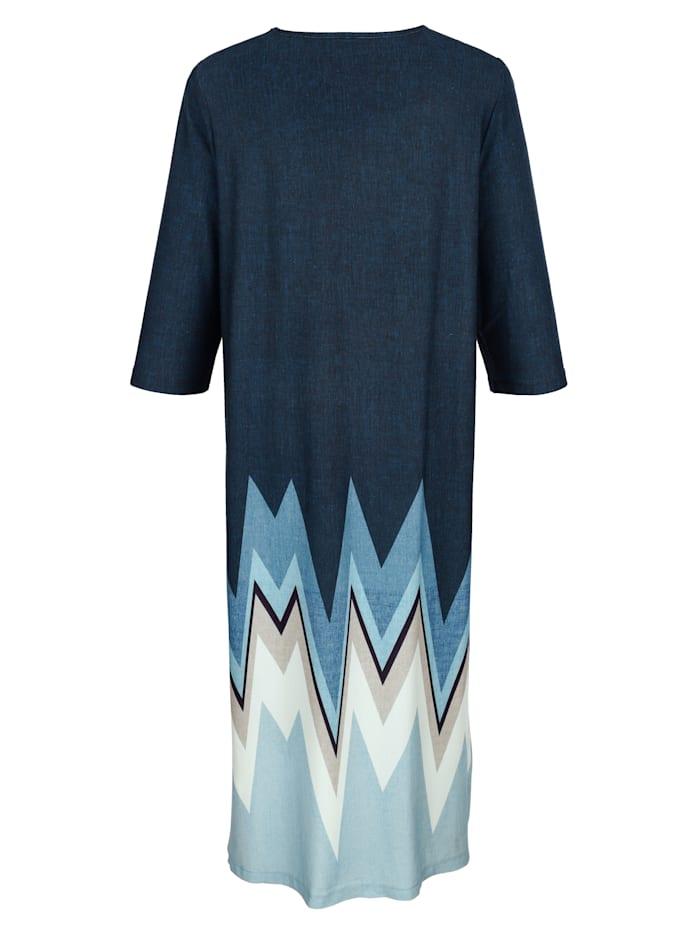 Hauskleid mit modischem Grafikdruck