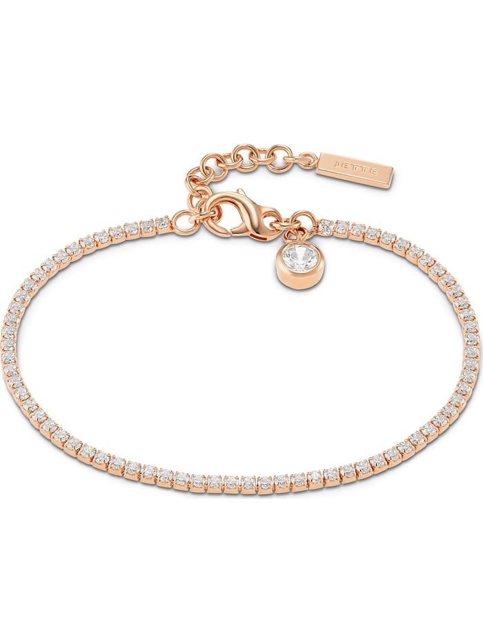 Jette JETTE Damen-Armband 925er Silber 72 Zirkonia, roségold