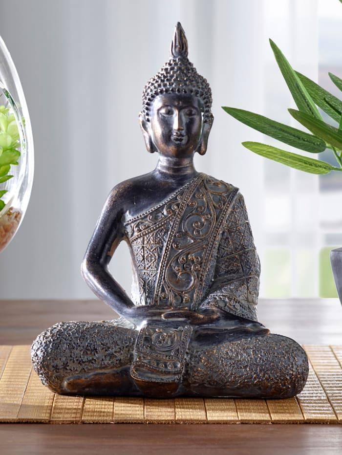 Buddha-patsas, 20 cm, musta