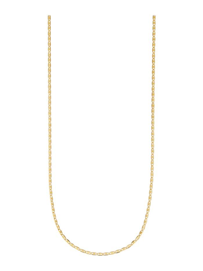 Plättchenkette in Gelbgold 375, Gelbgoldfarben