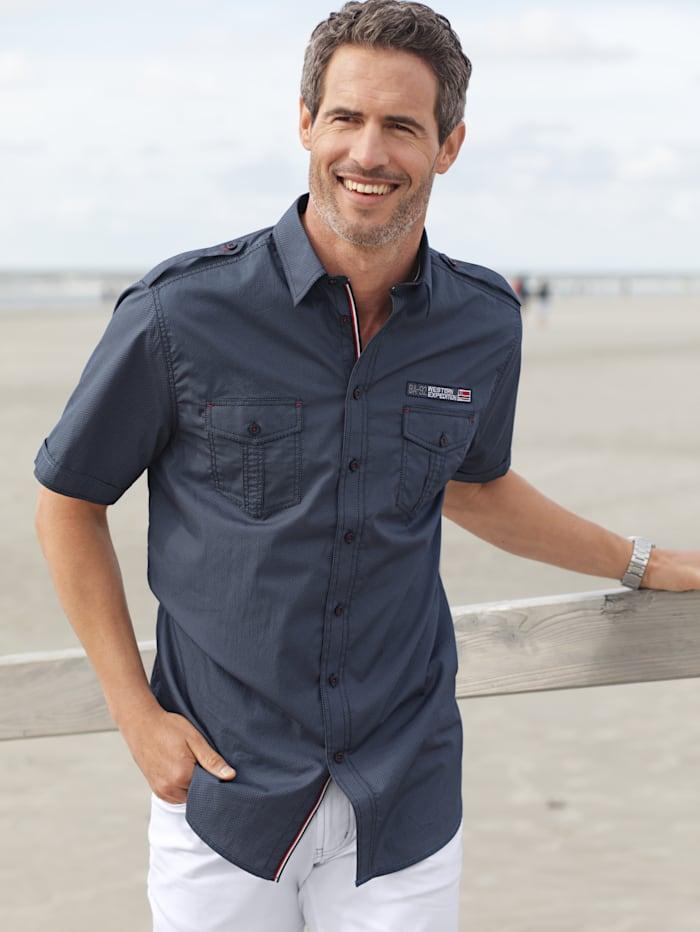 BABISTA Hemd mit detailreicher Verarbeitung, Marineblau